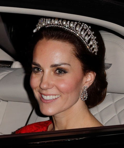 **...AND TIARAS MUST BE ANGLED PROPERLY.** <br><br> Although tiaras were traditionally worn towards the front of the head, the modern style is worn farther back on the head at a 45-degree angle.
