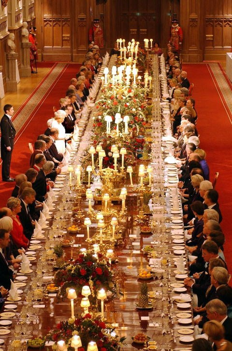 **UTENSIL PLACEMENT IS VERY IMPORTANT.** <br><br> If Royals need to exit the room during dinner, but haven't finished their food, they cross their utensils so the staff doesn't remove their plate. If they're finished with a meal, they place the utensils at an angle, with the handles at the bottom right of the plate.