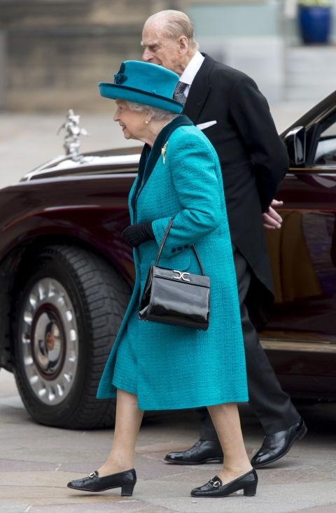 **PRINCE PHILLIP IS REQUIRED TO WALK BEHIND THE QUEEN.** <br><br> The last one is probably the cutest. Since their marriage, Philip must walk a few steps behind the Queen at all times.