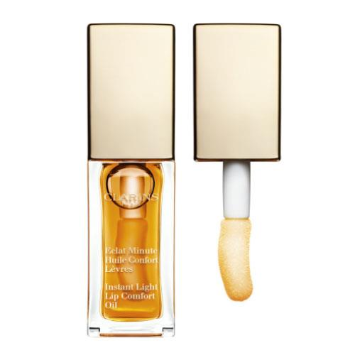 **Clarins Instant Light Lip Comfort Oil, $33 at [David Jones](http://shop.davidjones.com.au/djs/ProductDisplay?catalogId=10051&productId=7531003&langId=-1&storeId=10051).**