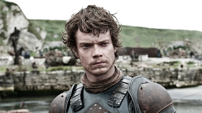 """**Theon Greyjoy / Alfie Allen** <br> <br> """"My prep for the torture scenes is all in the mind. Mental. Mental stuff going on in my head. So my preparation has more to do with what's going on in there. And I just watch stuff, like *Reservoir Dogs*, I watched that quite a bit. I thought Kirk Baltz was underrated. His ear...and pain—my job as an actor is to convey emotions that I experience in my own life and make that relevant to other people, and that pain is something you need to experience yourself, you know? So I just thought of the most painful things I could think of, and tried to exaggerate it, but it was hard. Really hard."""""""