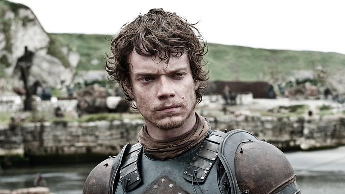 "**Theon Greyjoy / Alfie Allen** <br> <br> ""My prep for the torture scenes is all in the mind. Mental. Mental stuff going on in my head. So my preparation has more to do with what's going on in there. And I just watch stuff, like *Reservoir Dogs*, I watched that quite a bit. I thought Kirk Baltz was underrated. His ear...and pain—my job as an actor is to convey emotions that I experience in my own life and make that relevant to other people, and that pain is something you need to experience yourself, you know? So I just thought of the most painful things I could think of, and tried to exaggerate it, but it was hard. Really hard."""