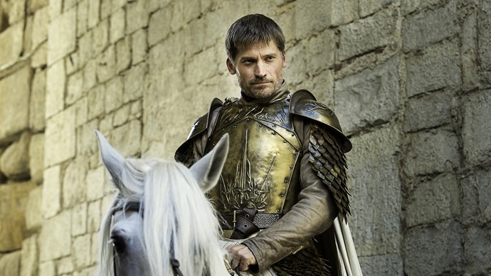"""**Jaime Lannister / Nickolaj Coster-Waldau** <br> <br> """"It's not scary, it's more exciting, but the adrenaline when you're on horseback, and you have to gallop through.... Anything where you're galloping on horseback, with soldiers and extras running in front of you, and weapons flying over you. Because you're on an animal, and they could slip and fall and you're not on the horse anymore. That gets the adrenaline rushing. That's the really exciting part. There's some really good battles."""""""
