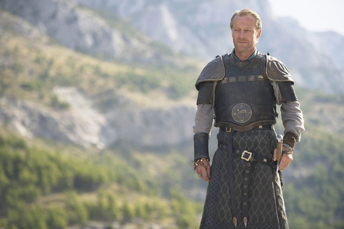 """**Jorah Mormont / Iain Glen** <br> <br> """"Doing the gladiatorial fight in Spain, where Jorah had to take on all these various fighters in front of all these people, that was two weeks of very intense work, guided by our wonderful director David Nutter. But it took a great deal of preparation, and you're really at the mercy of how a director is going to shoot it, to see if he's going to leave you dead on the floor, or if he's going to find a way to shoot it multi-camera, so you don't have to do it all the time, from beginning to end. In the end, I really enjoyed that. I've always enjoyed stage fighting. But at the time, and running up to it, I was pretty fearful, thinking, I just hope I can do this. When it's that extensive of a fight—I was fighting various people with different weapons—things can happen. Accidents can happen. But we were blessed, and it all went well. I was very happy with the way it all turned out."""""""