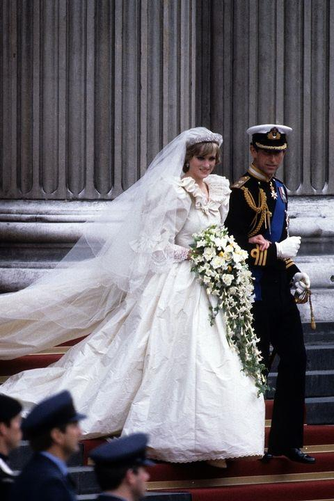 **Diana was sewn into her dress.** <br><br> In the seven months leading up the wedding, Princess Diana's waistline shrunk over 5 inches as she lost more and more weight (she would later open up about her struggles with eating disorders). The designers made five different bodices to fit, and ultimately stitched her into the final version that day.
