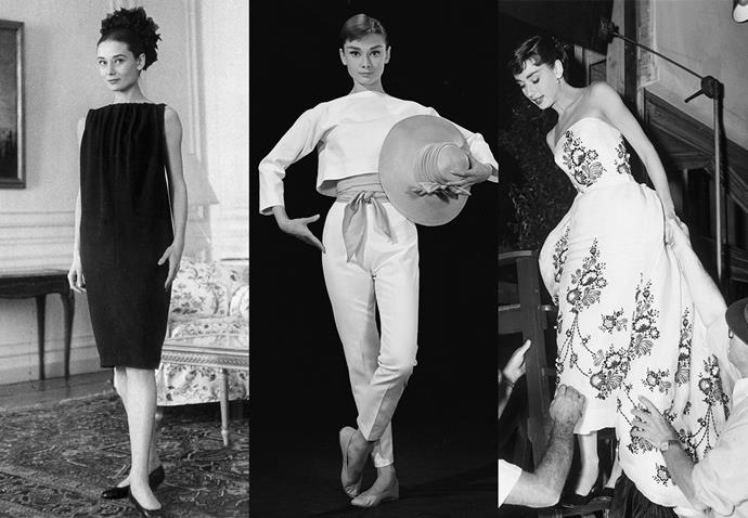 **Audrey Hepburn and Hubert de Givenchy**<br><br> Many don't know that Hubert de Givenchy, the founder of the current house, was the designer behind the famous little black dress Audrey Hepburn wore in *Breakfast at Tiffany's*. The designer created the majority of Hepburn's personal and professional wardrobe.