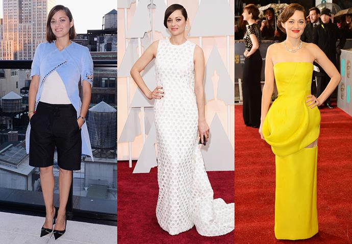 **Marion Cotillard and Dior**<br><br> A French woman and a French house? Now that's a match made in heaven.