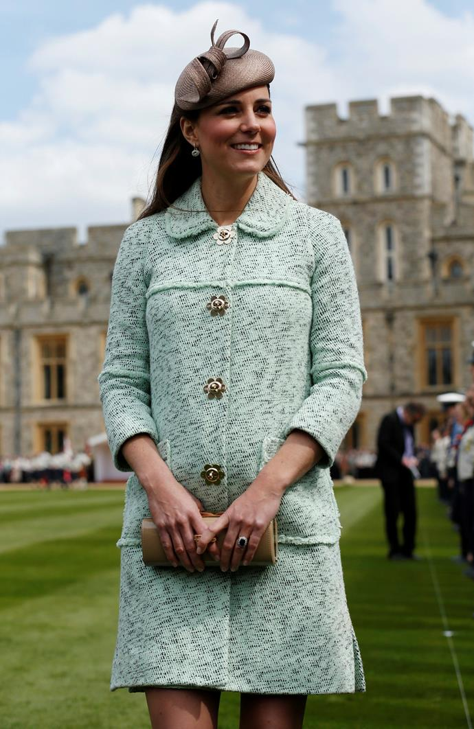 April 21, 2013 - When Kate is pregnant with George.