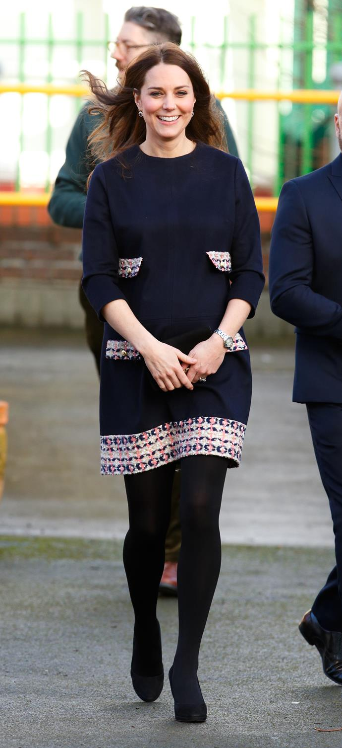 January 15, 2015 - When Kate is pregnant with Charlotte.