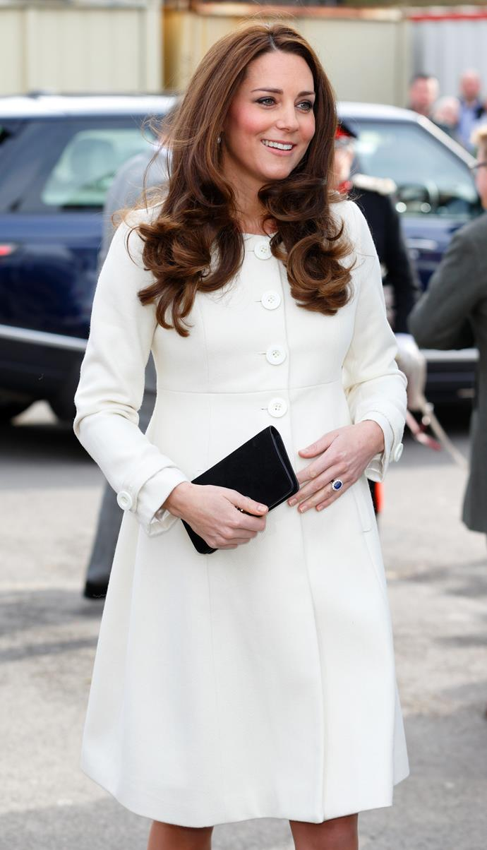 March 12, 2015 - When Kate is pregnant with Charlotte.