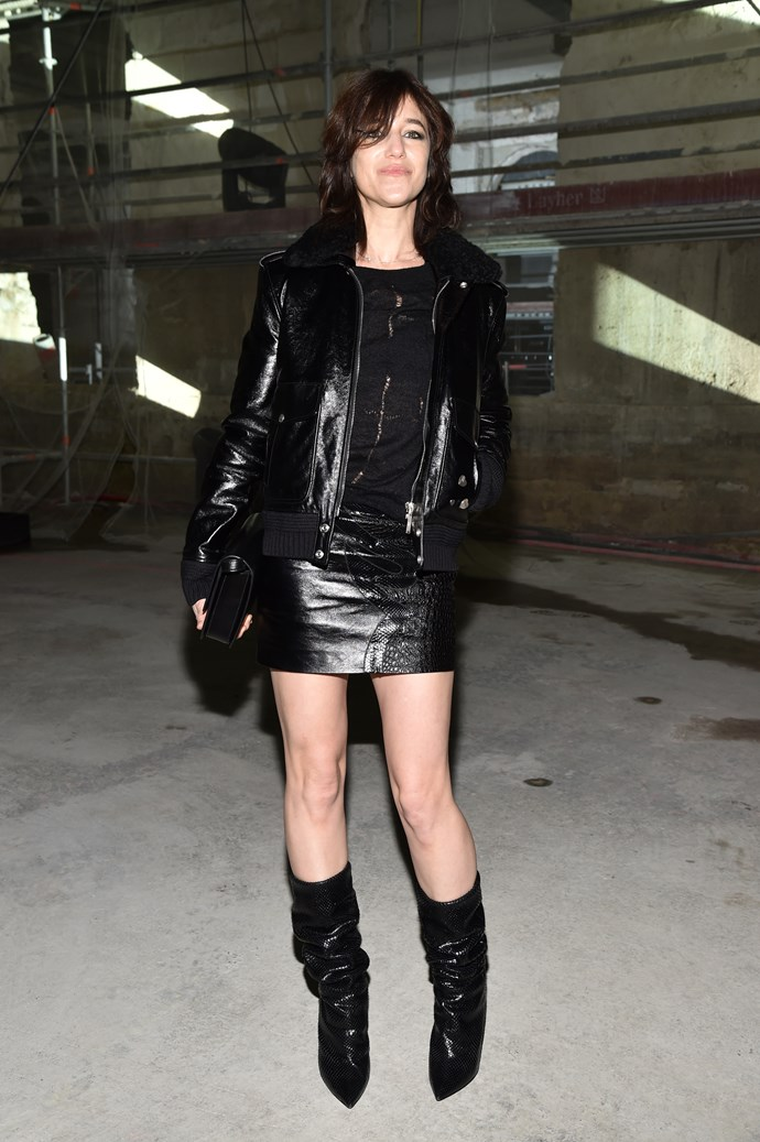 **Charlotte Gainsbourg**<br><br>  Charlotte wears Saint Laurent.