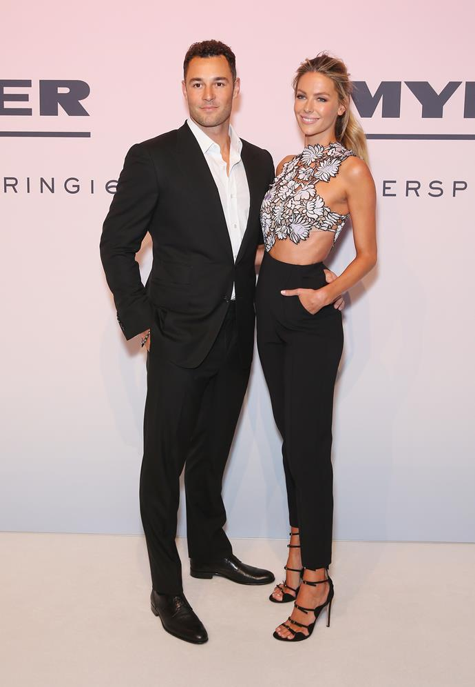 **Jennifer Hawkins and Jake Wall** <br><br> Hawkins and Wall were in a relationship for eight years, before getting married in 2013. The couple met at a nightclub when the model was 20.