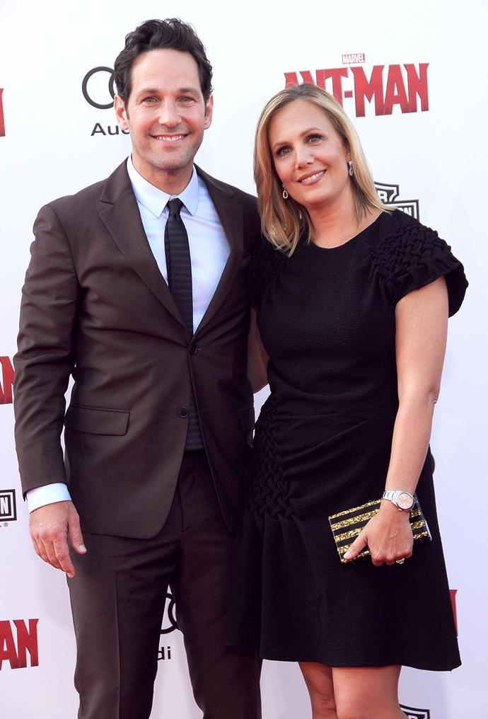 **Paul Rudd and Julie Yaeger** <br><br> Rudd marrier former publicist Yaeger in 2003. The two met at work after Rudd moved to New York. Yaeger helped the actor with some errands and he asked her out a couple of days later, as he was new to the city. They have two children.