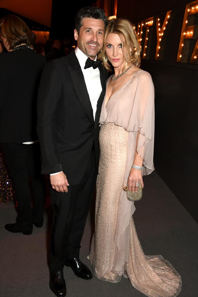 **Patrick Dempsey and Jillian Fink** <br><br> Dempsey married Fink, a makeup artist, who works with the likes of Kristen Stewart, Jennifer Lawrence and Kirsten Dunst, in 1999. They recently celebrated their 18th anniversary and have three children together.