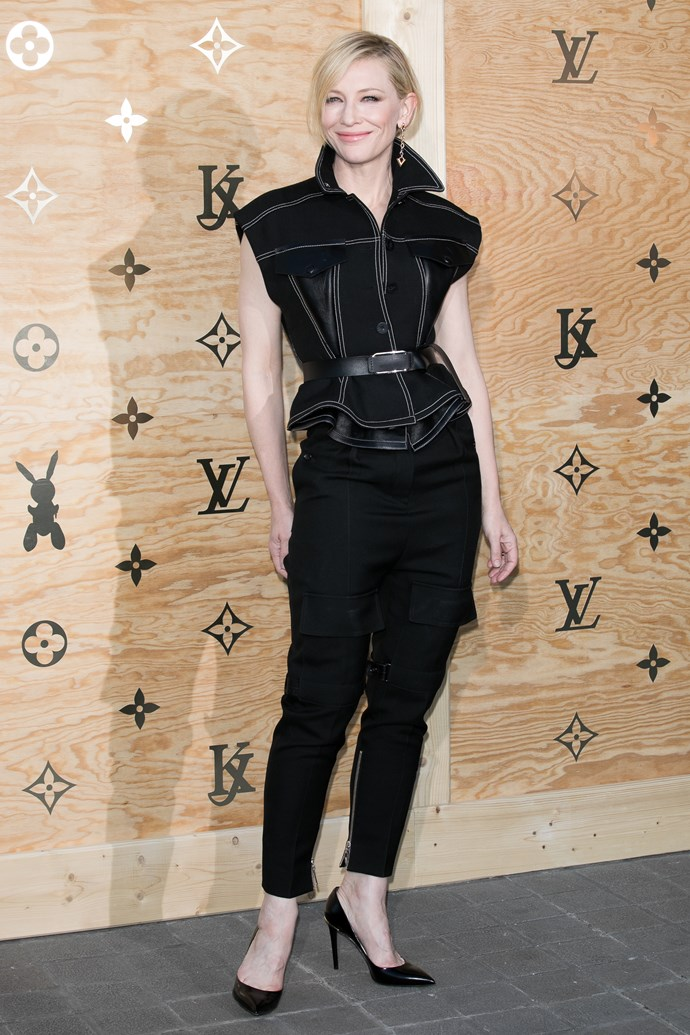 **Cate Blanchett**<br><br>  Cate wears Louis Vuitton.