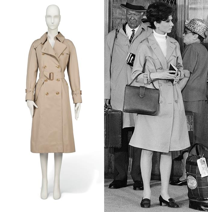 Audrey Hepburn's Burberry trench coat from the '80s.