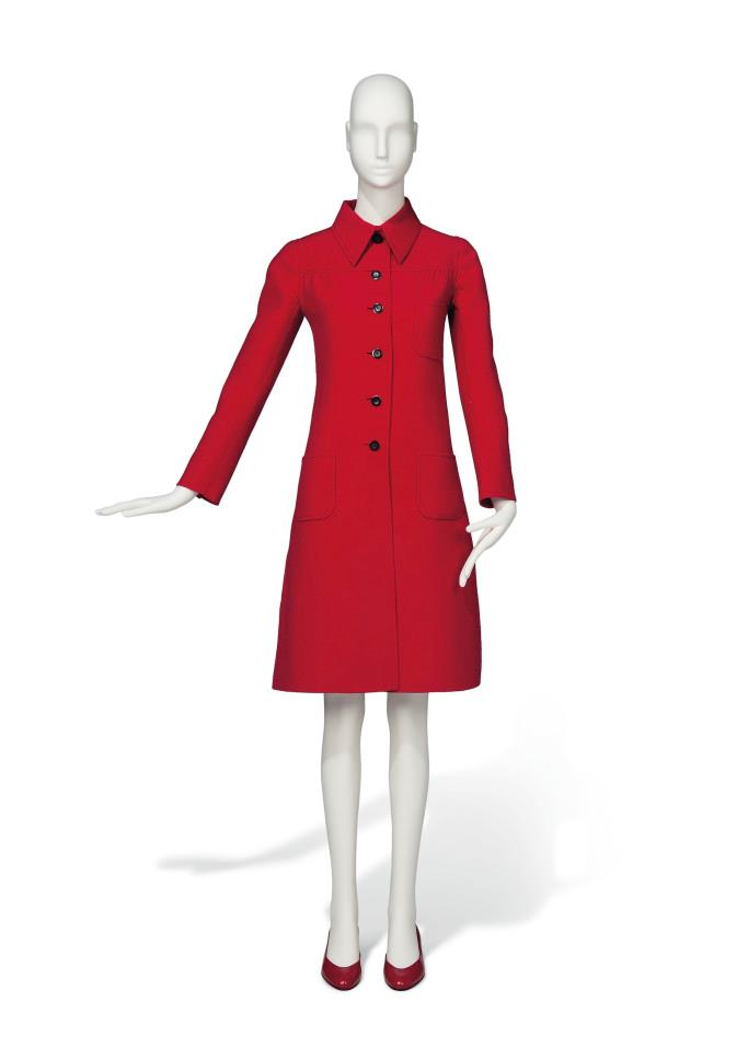 Audrey Hepburn's Valentino red coat dress from the '70s.