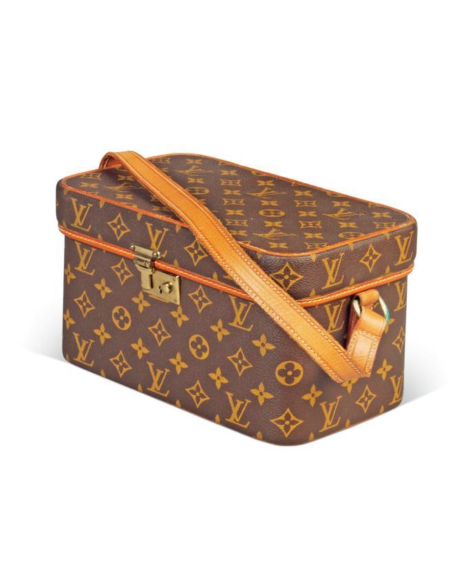 Audrey Hepburn's Louis Vuitton makeup travel case from the '70s.