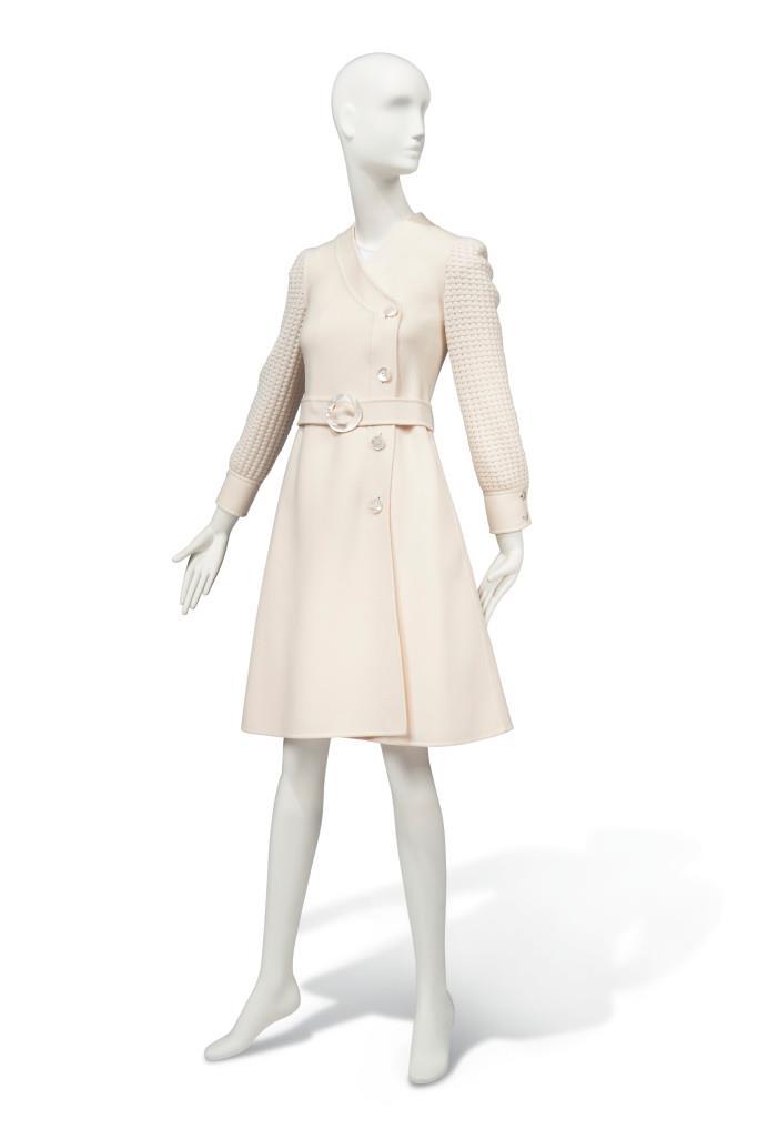 Audrey Hepburn's Valentino ivory coat dress from the '70s.