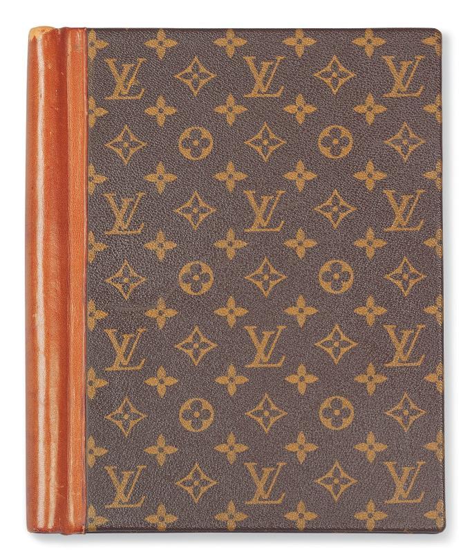 Audrey Hepburn's Louis Vuitton script cover.