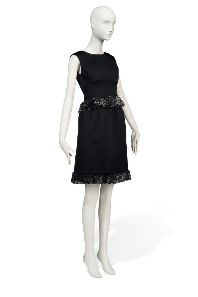 Audrey Hepburn's Givenchy black satin gown worn in the movie *Charade* from the '60s.
