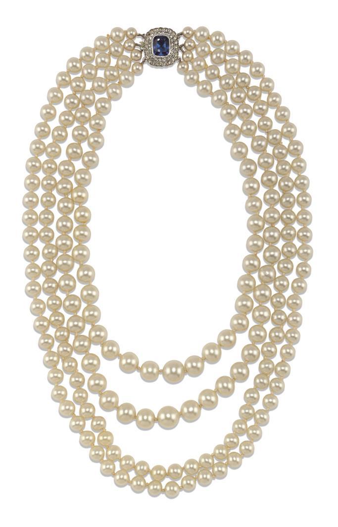 Audrey Hepburn's 20th century pearl necklace.
