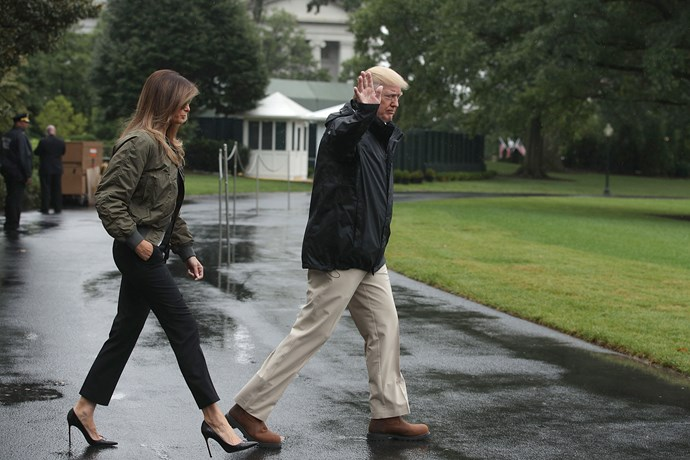 Melania Trump was heavily criticized for her choice of attire while departing the White House to visit victims of Hurricane Harvey in Texas. Her sky-high stilettos, in particular, were deemed inappropriate for a disaster zone.