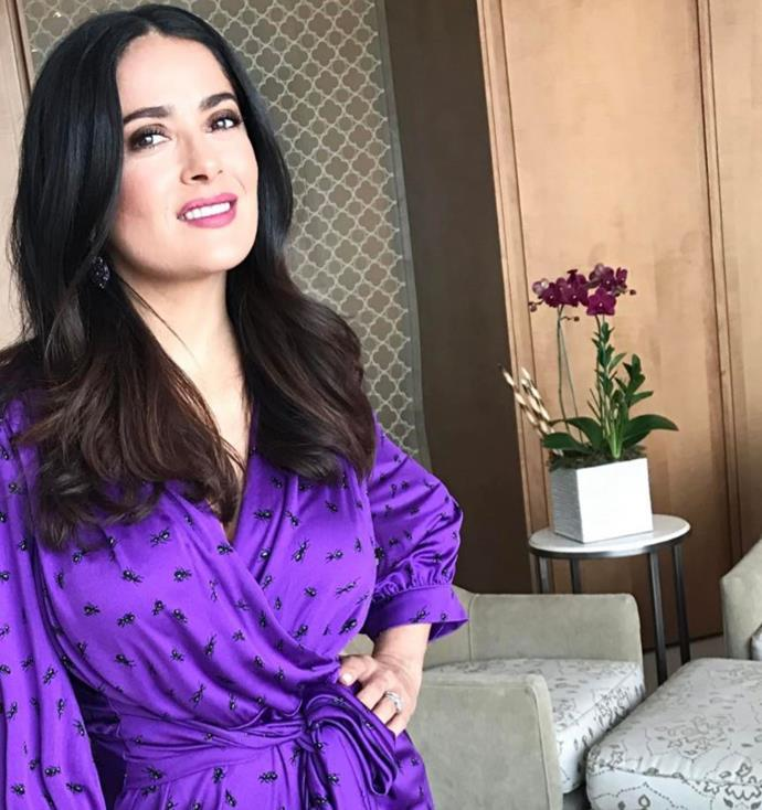 **Nuance, Salma Hayek** <br><br>  Apparently Salma Hayek isn't only talented on-screen, she is also the owner of Nuance—a beauty brand which specialises in hair care, cosmetics, skincare and more.