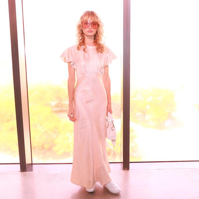 Annabella Barber sitting front row at Zimmermann spring summer '18. <br><br>  Image: BFA Courtesy Zimmermann