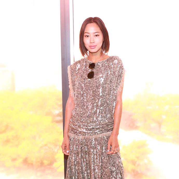 Aimee Song sitting front row at Zimmermann spring summer '18. <br><br>  Image: BFA Courtesy Zimmermann