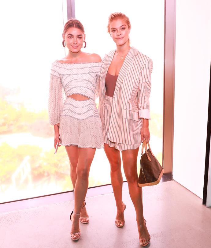 Bambi Northwood-Blyth and Nina Agdal sitting front row at Zimmermann spring summer '18. <br><br>  Image: BFA Courtesy Zimmermann