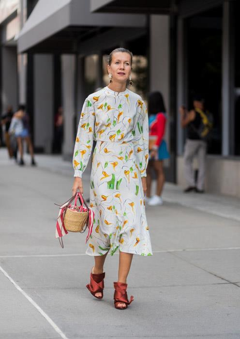 The benefit of working in a creative office means you can wear things from Monday to Friday that would otherwise be limited to your weekend wardrobe. Grab your prettiest, floral dress and team with your most OTT pair of heels for a femme look that still means business.