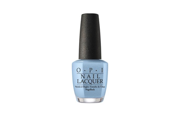 Nail polish, $20, O.P.I at [Myer](https://www.myer.com.au/shop/mystore/opi-opi--check-out-the-old-geysirs) <br><br> Steer clear of heavily saturated blues and opt for a chalky sky blue for an understated beauty moment.