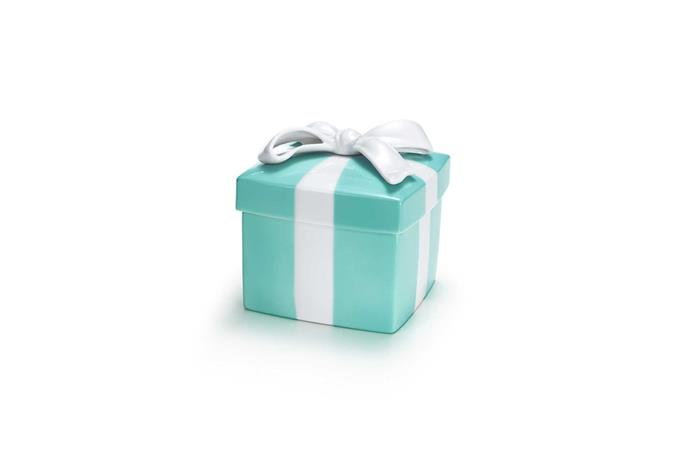 Ring box, $150, at [Tiffany & Co.](http://www.tiffany.com.au/gifts/business-gifts/tiffany-blue-box-GRP02222?fromGrid=1&origin=browse&trackpdp=bg&fromcid=288179) <br><br> Tiffany & Co.'s signature blue is a bridal tradition in itself.
