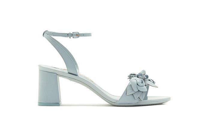 Sandal, $650, Sophia Webster at [Désordre](https://desordrestore.com/collections/shoes/products/lilicosandalblue) <br><br> Sophia Webster's uber-feminine approach gets a low-key makeover in these blue-grey floral sandals.