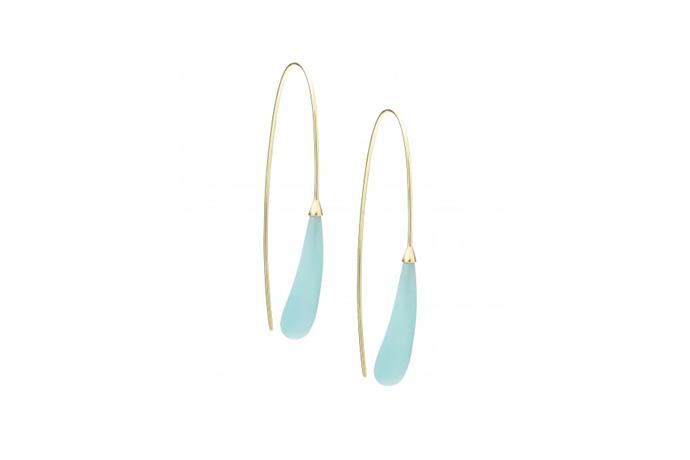 Earrings, $385 at [Jan Logan](http://www.janlogan.com/coloured-stone-earrings-122048) <br><br> Sleek and sculptural, these Jan Logan jewels are a minimalist bride's answer to OTT tiaras.
