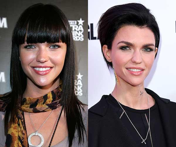 **Ruby Rose** <br><br> *Orange Is The New Black* actress Ruby Rose really found her style when she chopped her long hair off into a pixie crop. The rest, as they say, is history.