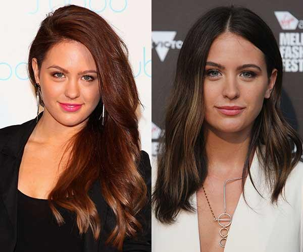 **Jesinta Franklin** <br><br> A few years ago, Franklin (née Campbell) was still finding her style and experimented with auburn hair. Now, she's settled on a more natural palette.