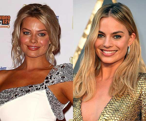 **Margot Robbie** <br><br> Once upon a time, Gold Coast born Robbie was rarely seen on a red carpet without a tan.