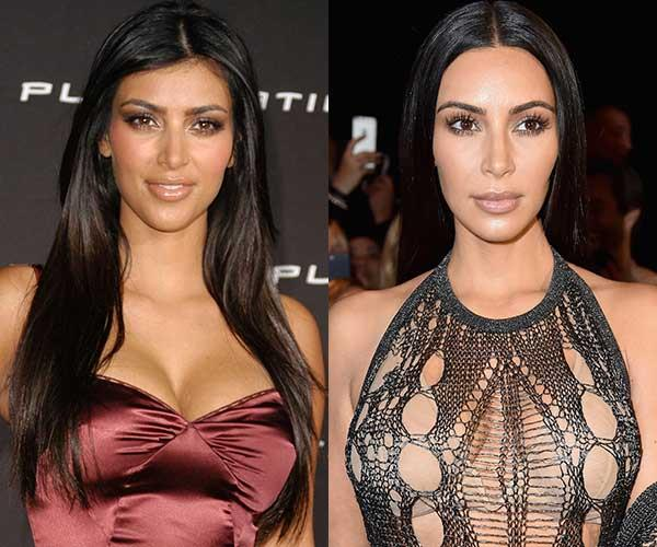 **Kim Kardashian** <br><br> Kim Kardashian's hair and makeup is a lot more paired back than it once was.