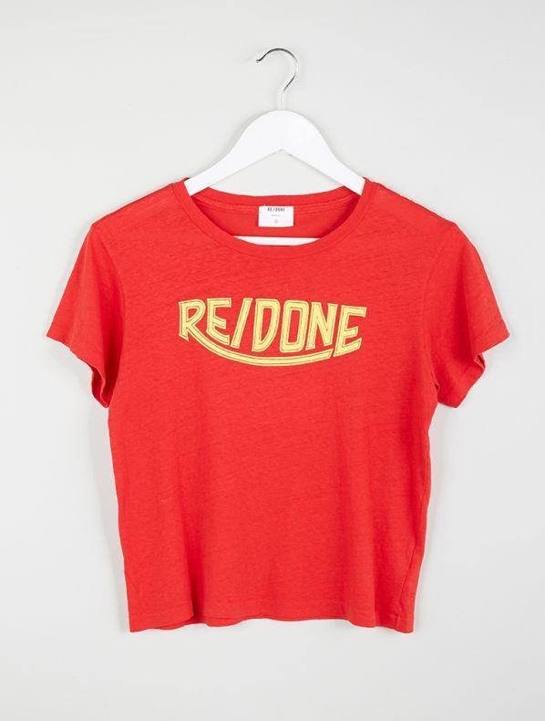 "**RE/DONE 1970's Logo Tee, $127, *[My Chameleon](https://www.mychameleon.com.au/1970s-logo-tee-red-redone|target=""_blank""|rel=""nofollow"")***"