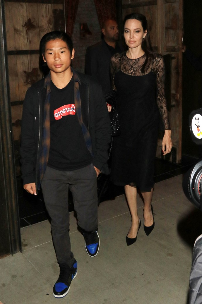 With son Maddox Jolie-Pitt out and about in Los Angeles, May 14th 2017.