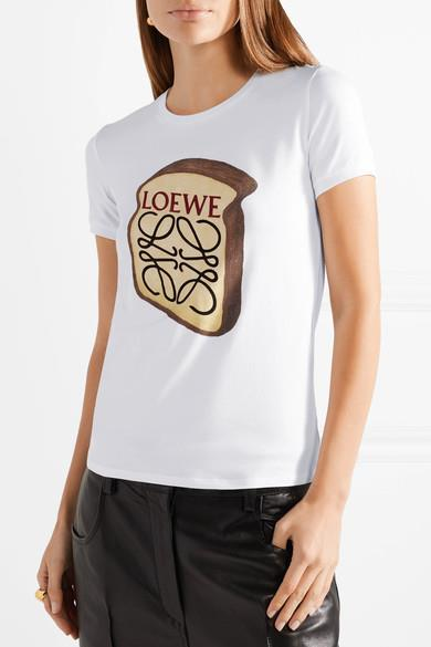 "**LOEWE 'Toast' Printed Stretch Cotton T-Shirt, $360, *[Net-a-Porter](https://www.net-a-porter.com/au/en/product/940246?resType=single&keywords=loewe%20tshirt&termUsed=Loewe&enableAjaxRequest=false|target=""_blank""