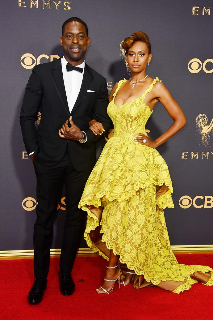 Sterling K. Brown in Valentino and Ryan Michelle Bathe