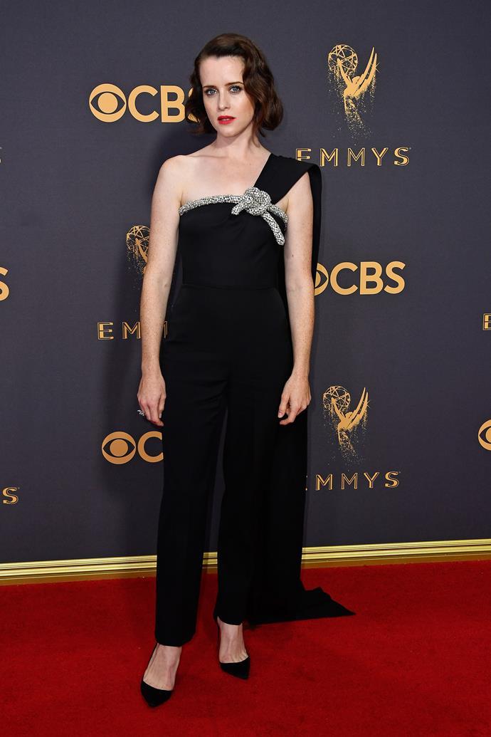 Claire Foy in Oscar de la Renta