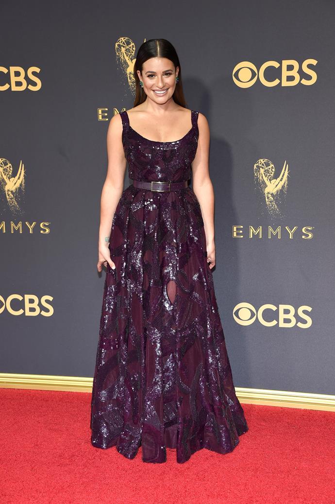 Lea Michele in Elis Saab