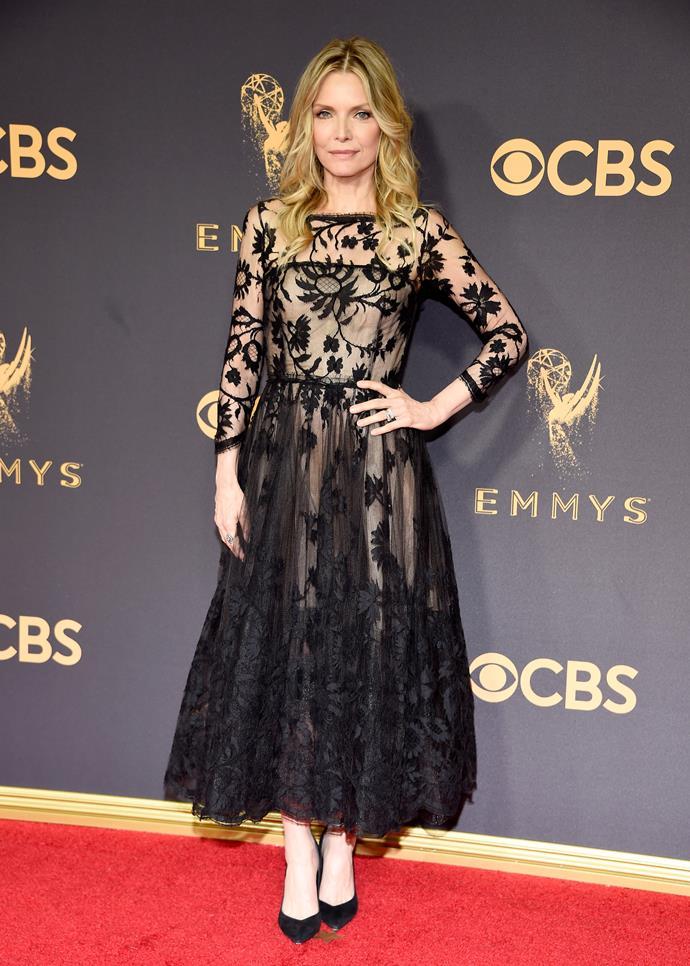 Michelle Pfieffer in Oscar de la renta