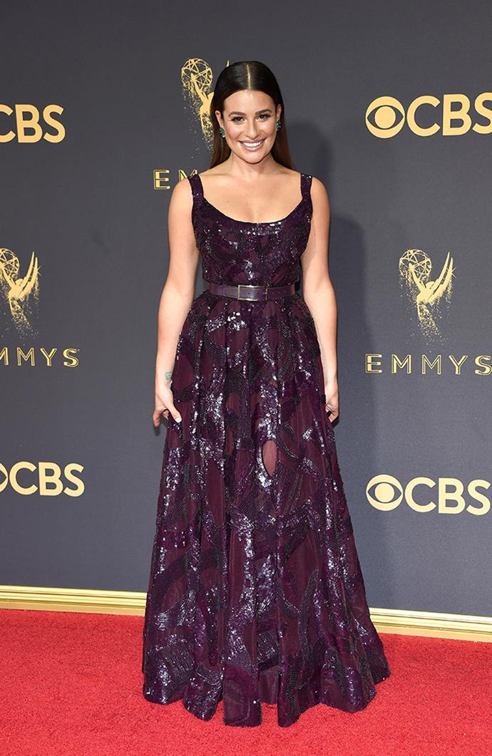 "**Lea Michele in Elie Saab:**   ""The belt is freaking me out."" — Jessica Matthews, deputy chief sub editor"