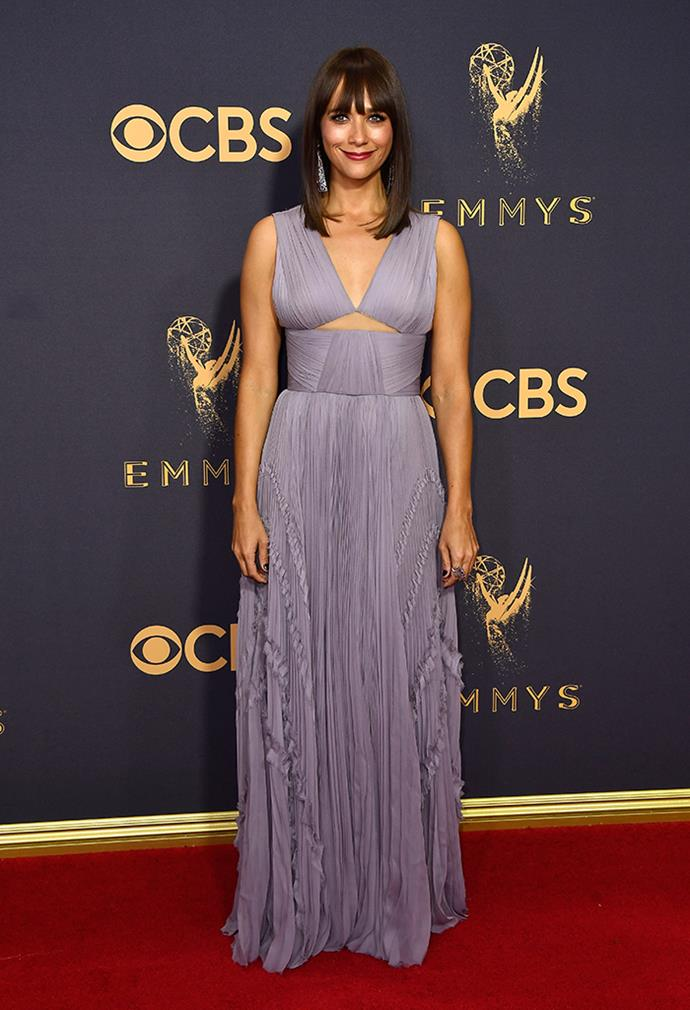 "**Rashida Jones in J.Mendel:**   ""Not loving the bust line. Or the colour."" — Jessica Matthews, deputy chief sub editor"