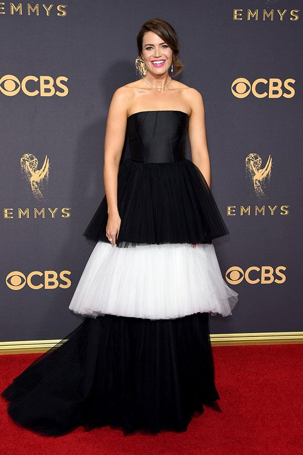 "**Mandy Moore in Carolina Herrera:**   ""Sia must be eyeing this for a stage wig. But points for bravery."" — Tom Lazarus, chief sub editor"